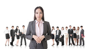 Business woman and her team Stock Photography