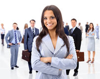 Business woman and her team Stock Photos