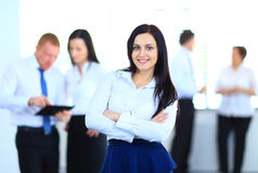 Business woman with her team Stock Images