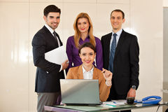 Business woman with her team Stock Image