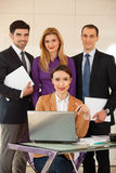 Business woman with her team Royalty Free Stock Photo