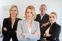 Business woman and her team Royalty Free Stock Photo