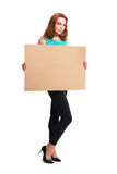 Business woman hold card Stock Photos
