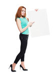 Business woman hold card Stock Photography