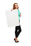 Business woman hold card Stock Image