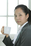 Business woman hold a coffee cup Stock Images