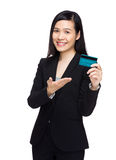 Business woman hold with credit card Stock Photography