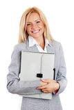 Business woman hold a folder Royalty Free Stock Images