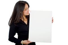Business woman holding Stock Photo