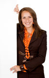 Business woman holding Royalty Free Stock Photos