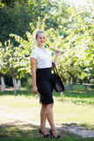 Business Woman Holding A Bag Royalty Free Stock Photography