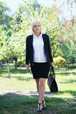 Business Woman Holding A Bag Royalty Free Stock Photo