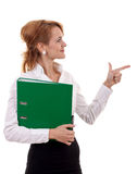 Business Woman Holding A Folder Stock Images