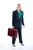Business Woman Holding Briefcase Royalty Free Stock Image