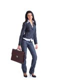 Business woman holding a briefcase Royalty Free Stock Image