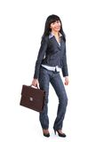Business woman holding a briefcase Stock Photo