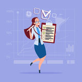 Business Woman Holding Check List Clipboard Royalty Free Stock Photos