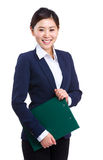 Business woman holding a clipboard Stock Photo