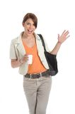 Business woman holding a coffee cup i Stock Photography