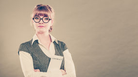 Business woman holding contract in hand Stock Images