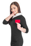 Business woman holding credit card Stock Images