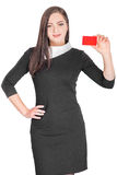 Business woman holding credit card Royalty Free Stock Photo