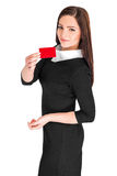 Business woman holding credit card Royalty Free Stock Photography