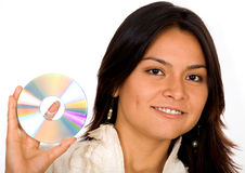 Business woman holding data Royalty Free Stock Photos