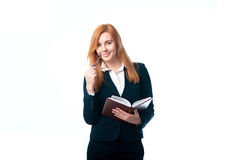 Business woman holding a diary Royalty Free Stock Photography