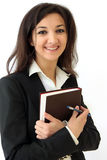 Business woman holding diary in hands Royalty Free Stock Photography