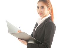 Business woman holding document Royalty Free Stock Photography