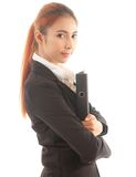 Business woman holding document Royalty Free Stock Images