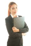Business woman holding document Stock Image