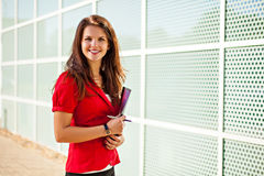 Business woman holding documents Royalty Free Stock Images