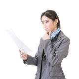 Business woman holding file document paper Stock Photography