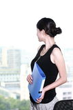 Business woman holding with folder Stock Photos