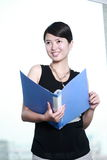Business woman holding with folder Stock Photography