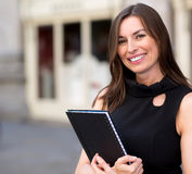 Business woman holding a folder Royalty Free Stock Photography