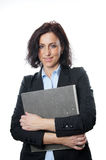 Business woman holding folder Royalty Free Stock Photos