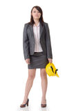 Business woman holding hat Royalty Free Stock Photos
