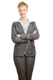 Business woman holding her arms crossed Stock Photo
