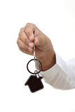 Business woman holding house key Stock Image