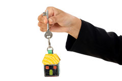 Business woman holding house key Stock Image