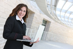 Business Woman Holding Laptop Royalty Free Stock Photo