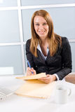 Business woman holding legal Stock Photos