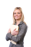Business woman holding legal documents Stock Photos