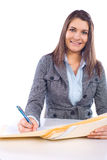 Business woman holding legal documents Royalty Free Stock Photos