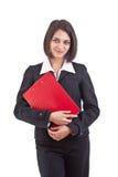 Business woman holding organizer Stock Photos