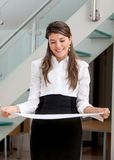 Business woman holding a paper Royalty Free Stock Image
