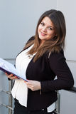 Business woman holding a planner Stock Image
